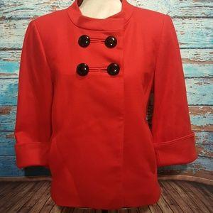 Ann Taylor Loft Red Wool Coat - Size Small